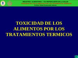 Argumentos de la Toxicidad Alimentaria