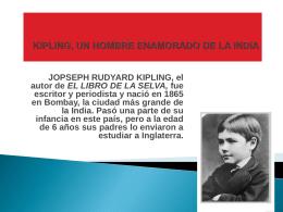 KIPLING, UN HOMBRE ENAMORADO DE LA INDIA