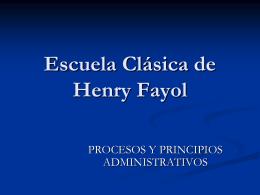 Escuela clásica de Henry Fayol
