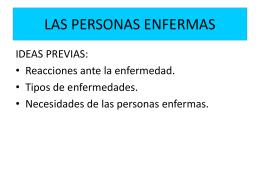 LAS PERSONAS ENFERMAS