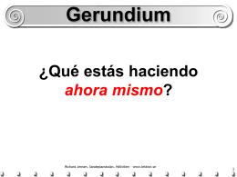Gerundium - spanska4u