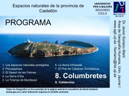 La Serra d`Espadà - Área de Geografía Humana