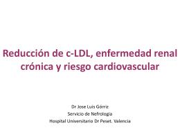 El riesgo cardiovascular del paciente renal crónico. Estudios previos