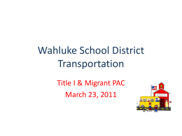 Autobus - Wahluke School District