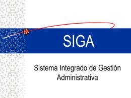 Presentación SIGA