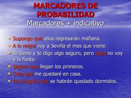 MARCADORES DE PROBABILIDAD
