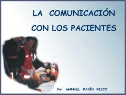 La comunicación con los pacientes