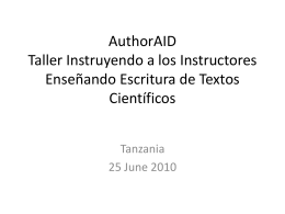 Slide 1 - AuthorAID