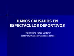 DAÑOS CAUSADOS EN ESPECTÁCULOS PÚBLICOS