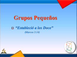 Para Organizar Grupos Pequeños