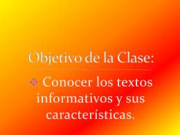 textos informativos - Colegio Hispano Americano