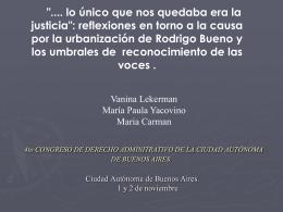 Urbanización de la villa Rodrigo Bueno