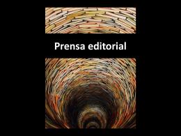 Prensa editorial - Dirección Nacional de Cultura