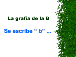 La grafía de la B