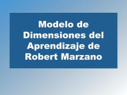 Modelo de Dimensiones del Aprendizaje de Robert