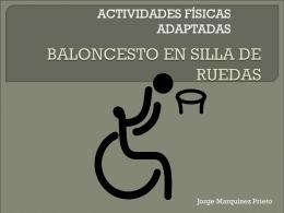Jorge M. BALONCESTO EN SILLA DE RUEDAS