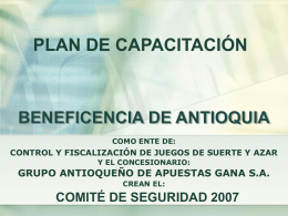 Diapositiva 1 - Beneficencia de Antioquia