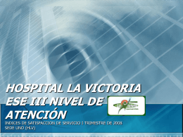 regresar - Hospital la Victoria ESE III Nivel