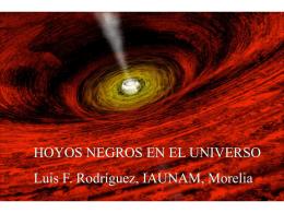 "Presentacion PowerPoint de ""Hoyos Negros"""