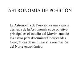 Archivo de astronomía de Posición