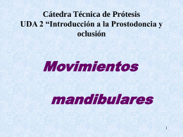 Movimientos mandibulares 2007