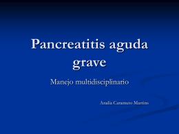 Pancreatitis aguda grave