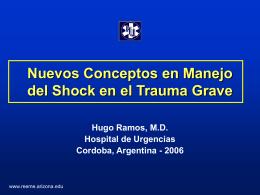 Nuevos conceptos en manejo del shock en el trauma grave