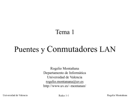 Puentes y Conmutadores LAN - Departament d`Informàtica