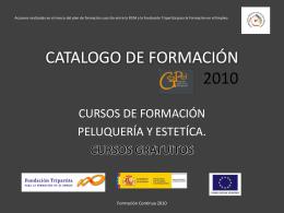 Presentación de PowerPoint - CATALOGO DE FORMACIÓN 2010