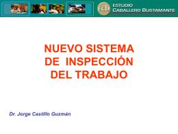 LA INSPECCIÓN DE TRABAJO - Informativo Caballero Bustamante