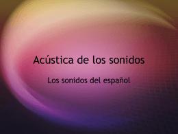 Acústica de los sonidos