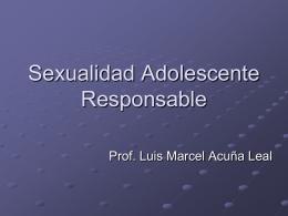 Sexualidad Adolescente Responsable