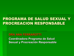 programa de salud sexual y procreacion responsable