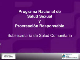 Programa Salud Sexual y Procreación Responsable