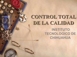 CONTROL TOTAL DE LA CALIDAD - Introducción a la Ingeniería