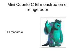 Mini Cuento 3 El monstruo en el refrigerado