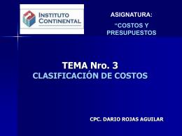 3 clasificacion de costos