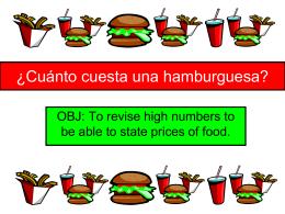 ¿Cuánto cuesta una hamburguesa?