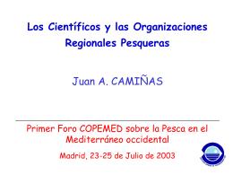 Los Científicos y las Organizaciones Regionales Pesqueras (y otros