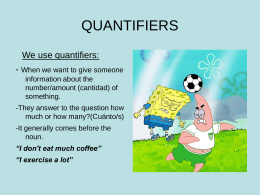 We use quantifiers - aliciaramallo.com