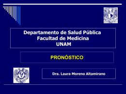 PRÓNOSTICO - Facultad de Medicina