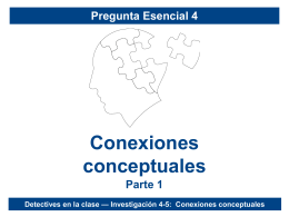Conexiones conceptuales - Epidemiology Education Movement