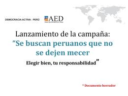 Se buscan peruanos que no se dejen mecer - C-Hub