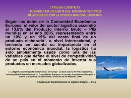 TOMADO TEXTUALMENTE DEL DOCUMENTO CONPES