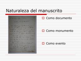 """Usos del manuscrito (Fragmento tomado """"El efecto de realidad"""", de"""