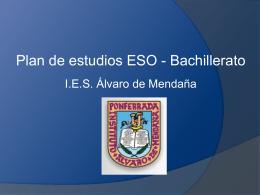 Diapositiva 1 - IES ÁLVARO DE MENDAÑA