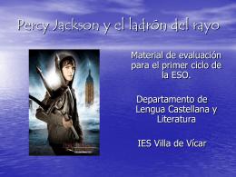 Percy Jackson y el ladrón del rayo - Biblioteca del IES Villa de Vícar