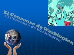 """El nombre """"Consenso de Washington"""""""