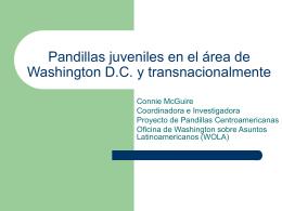 Pandillas Juveniles en el área de Washington DC y