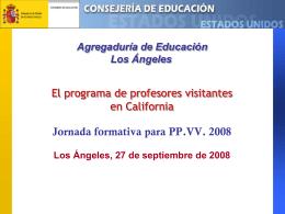 Consejería de Educación y Ciencia Embajada de España